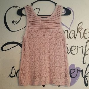 American Eagle Crochet Tank Top XS